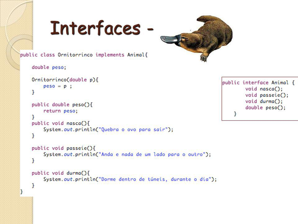 Interfaces - Exemplo
