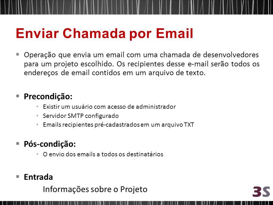 Enviar Chamada por Email