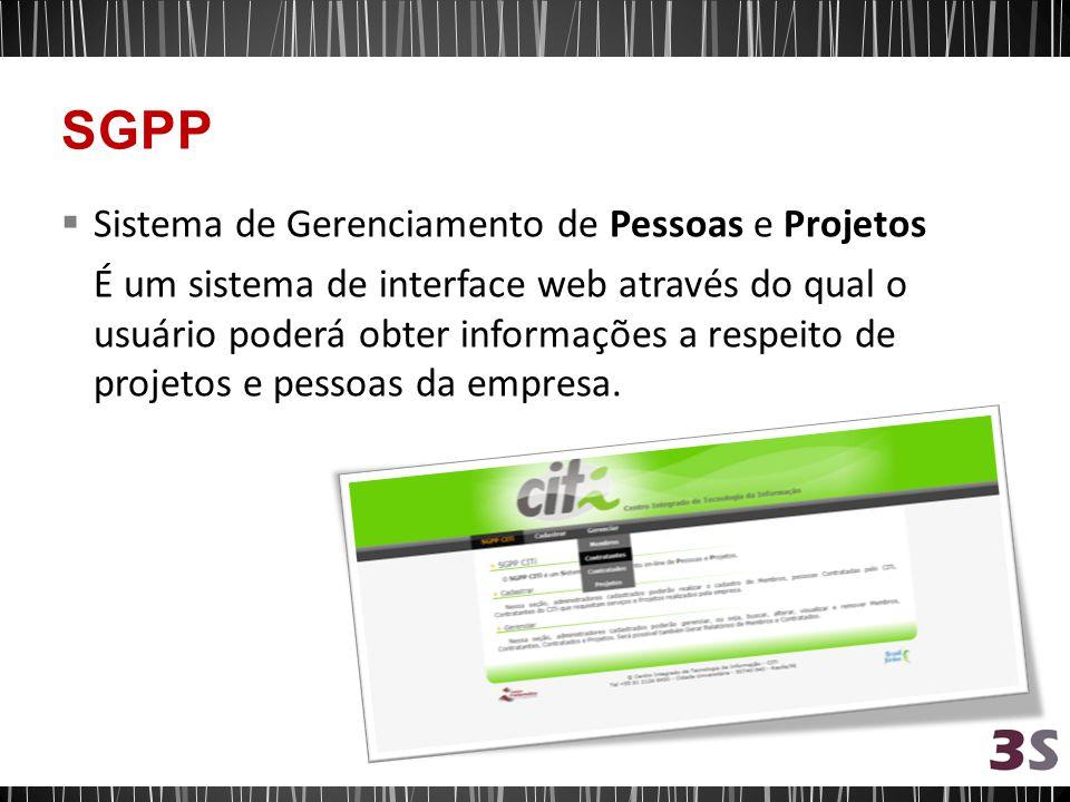 SGPP Sistema de Gerenciamento de Pessoas e Projetos