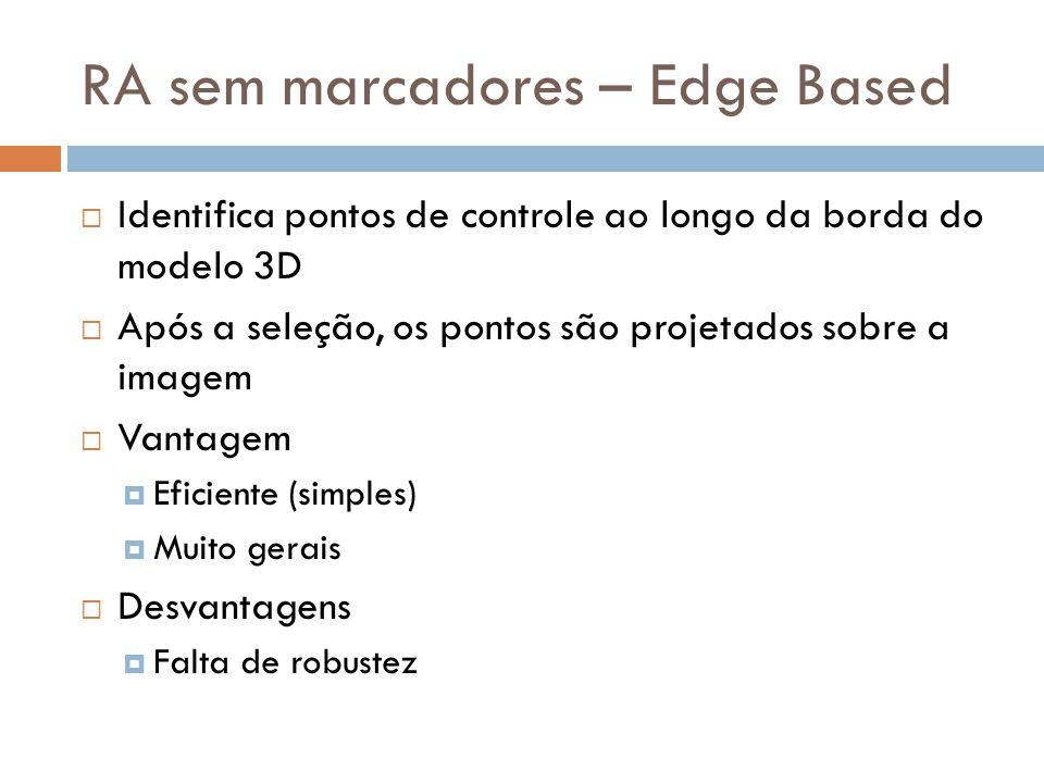 RA sem marcadores – Edge Based