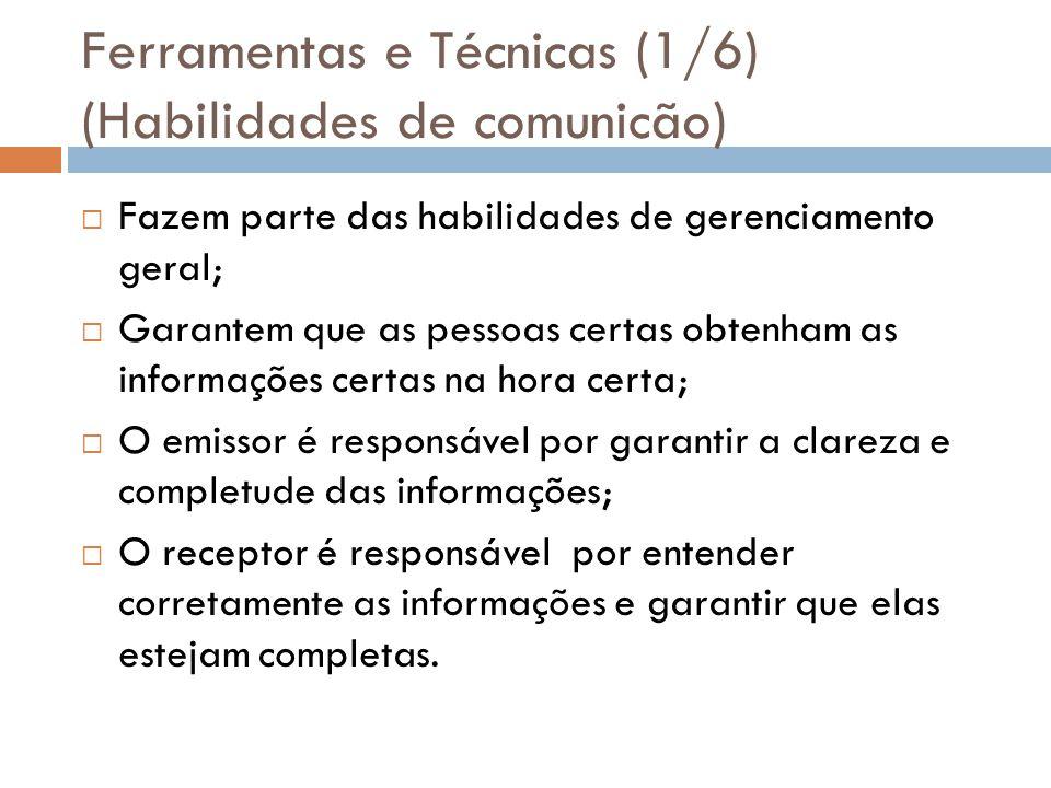 Ferramentas e Técnicas (1/6) (Habilidades de comunicão)