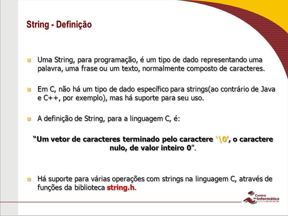 String - Definição