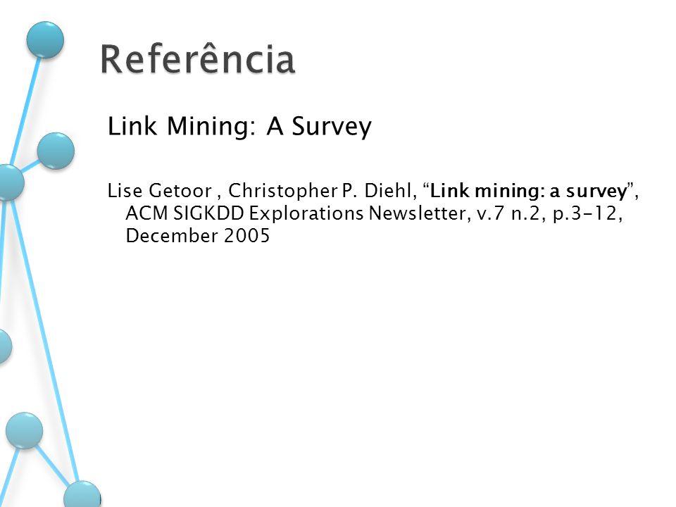 Referência Link Mining: A Survey