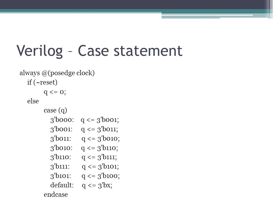Verilog – Case statement