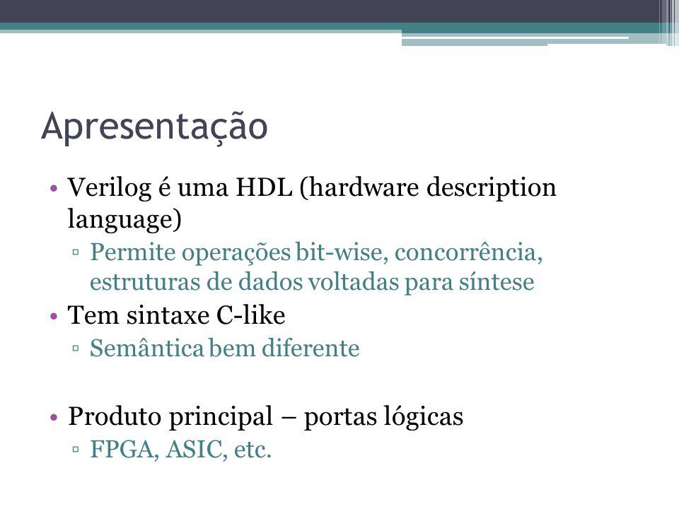 Apresentação Verilog é uma HDL (hardware description language)