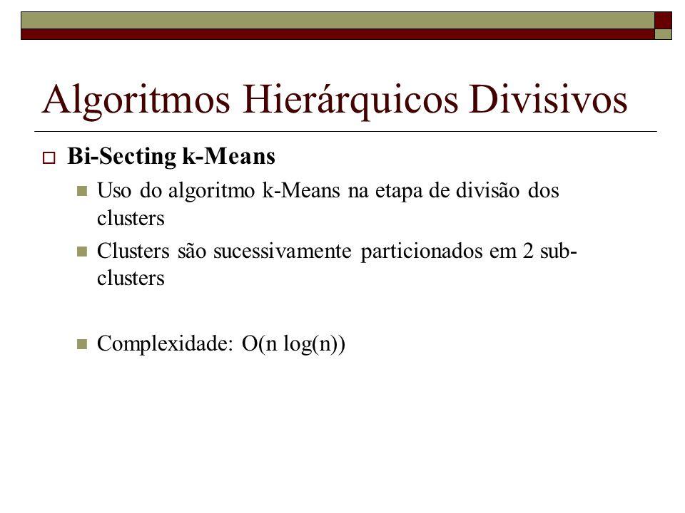 Algoritmos Hierárquicos Divisivos