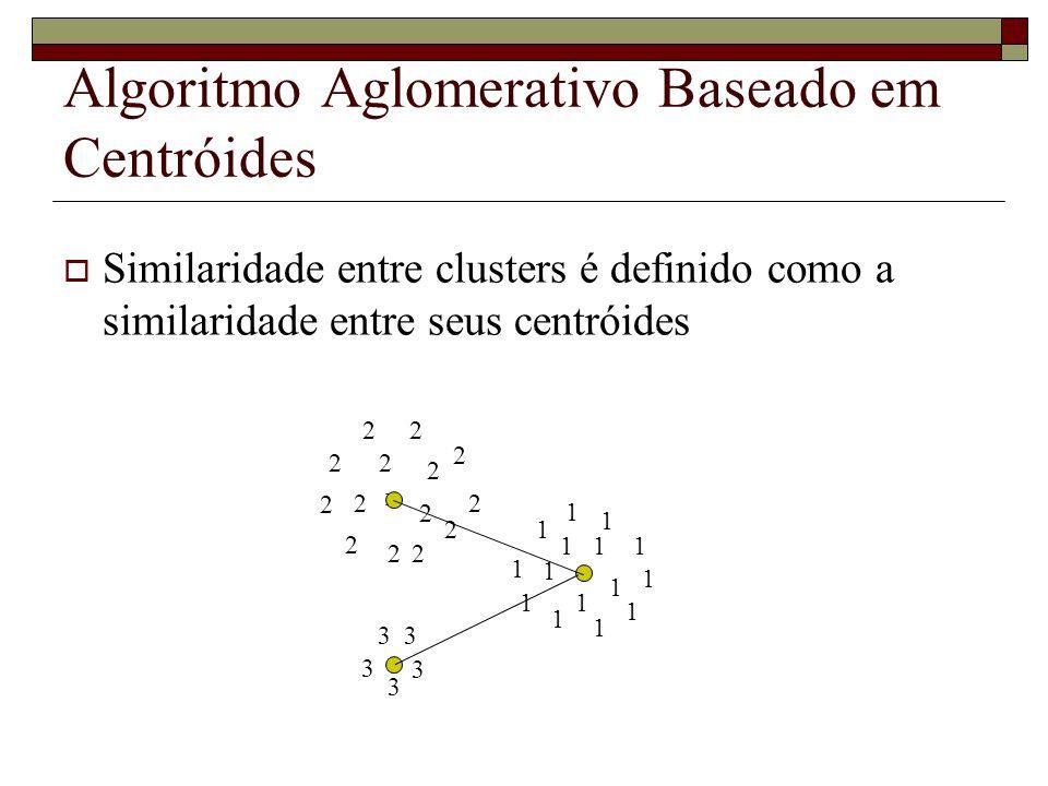 Algoritmo Aglomerativo Baseado em Centróides