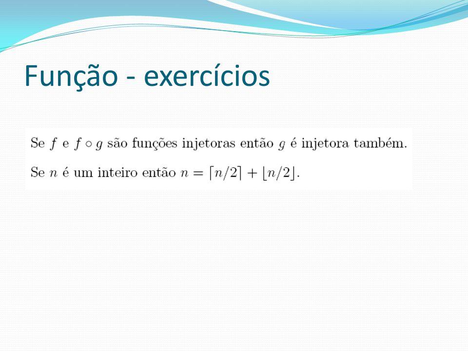 Função - exercícios