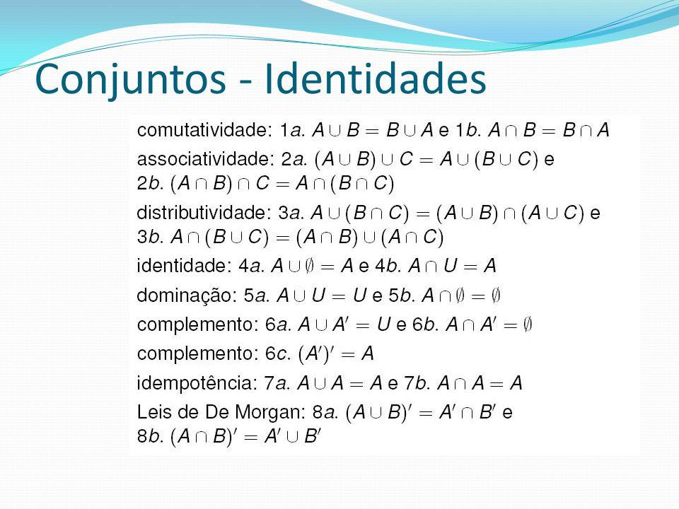 Conjuntos - Identidades