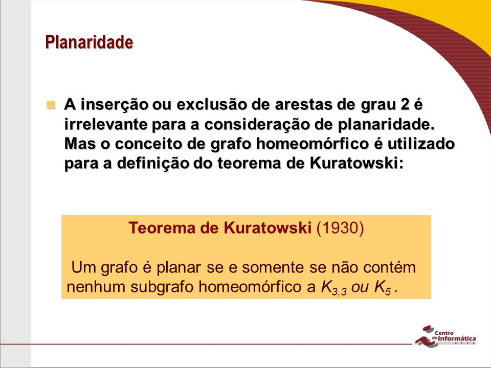 Teorema de Kuratowski (1930)