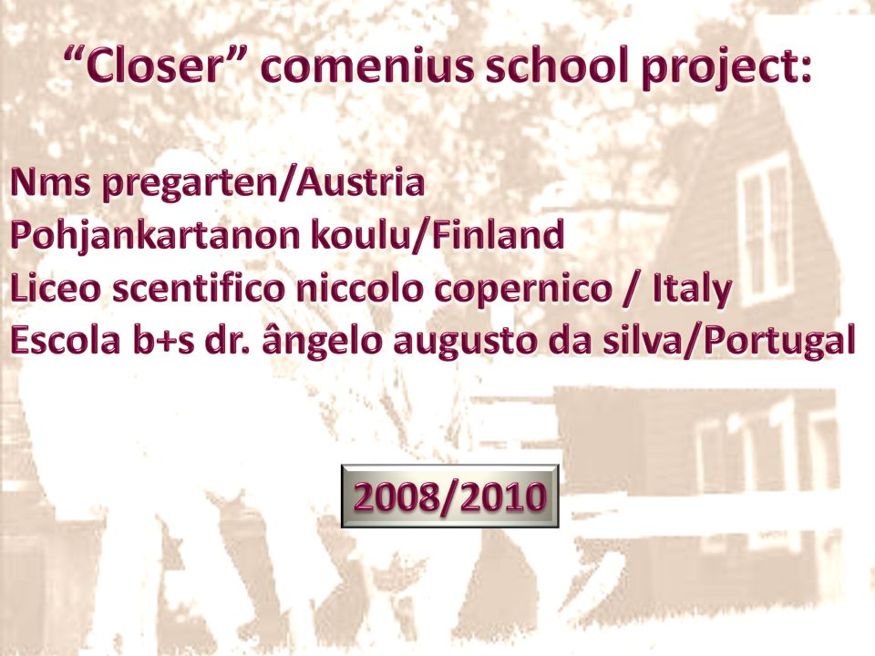 Closer comenius school project:
