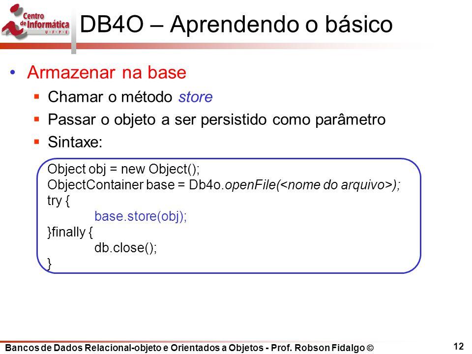 DB4O – Aprendendo o básico