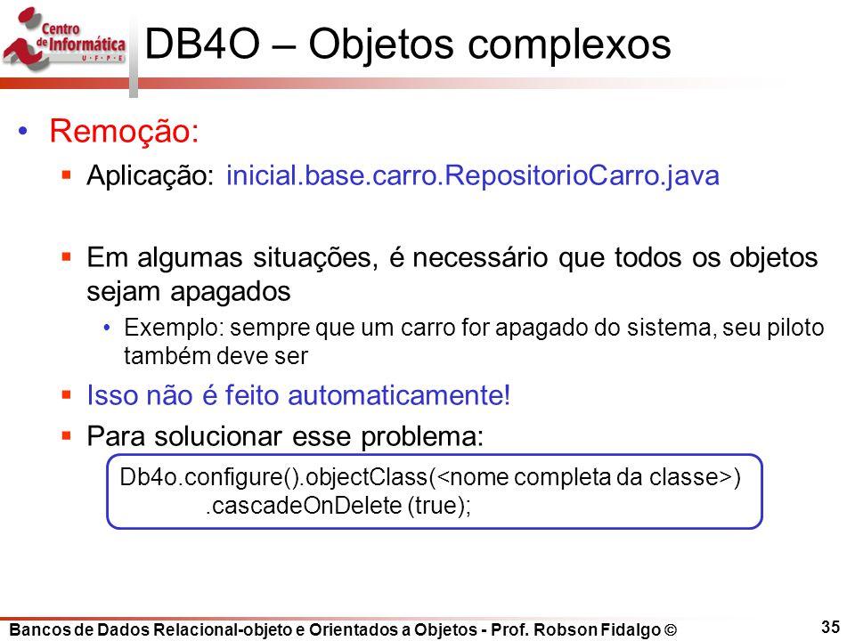 DB4O – Objetos complexos