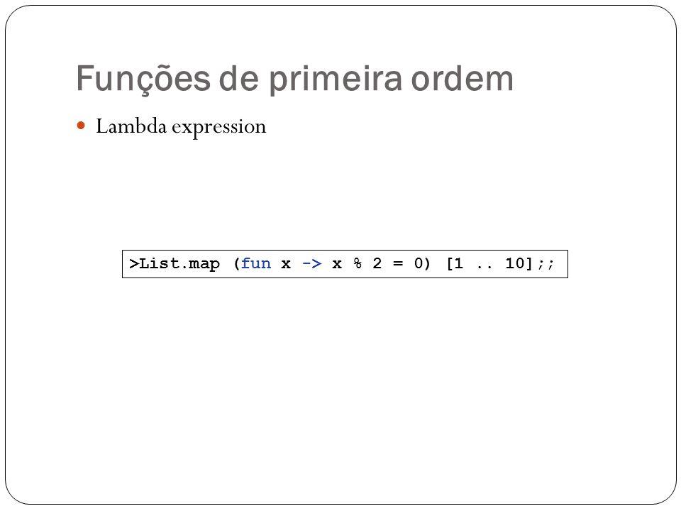 Funções de primeira ordem
