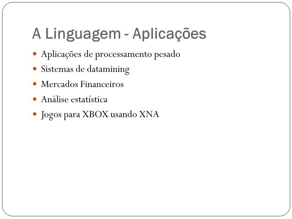 A Linguagem - Aplicações