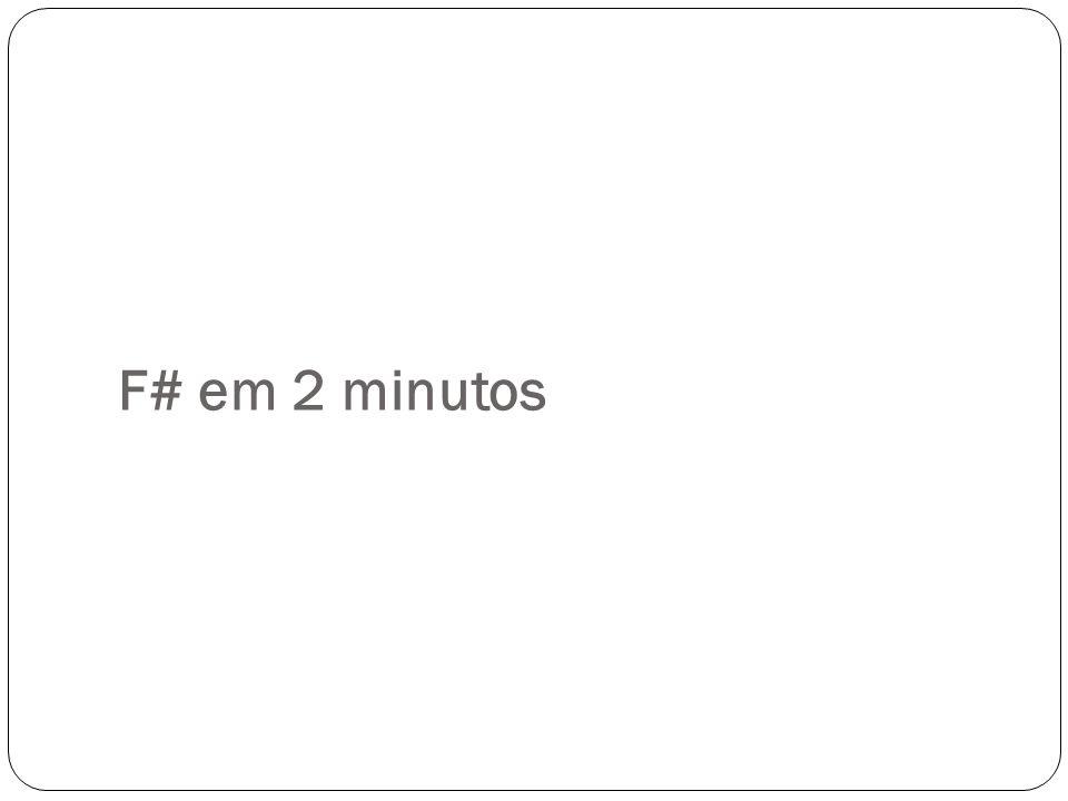 F# em 2 minutos