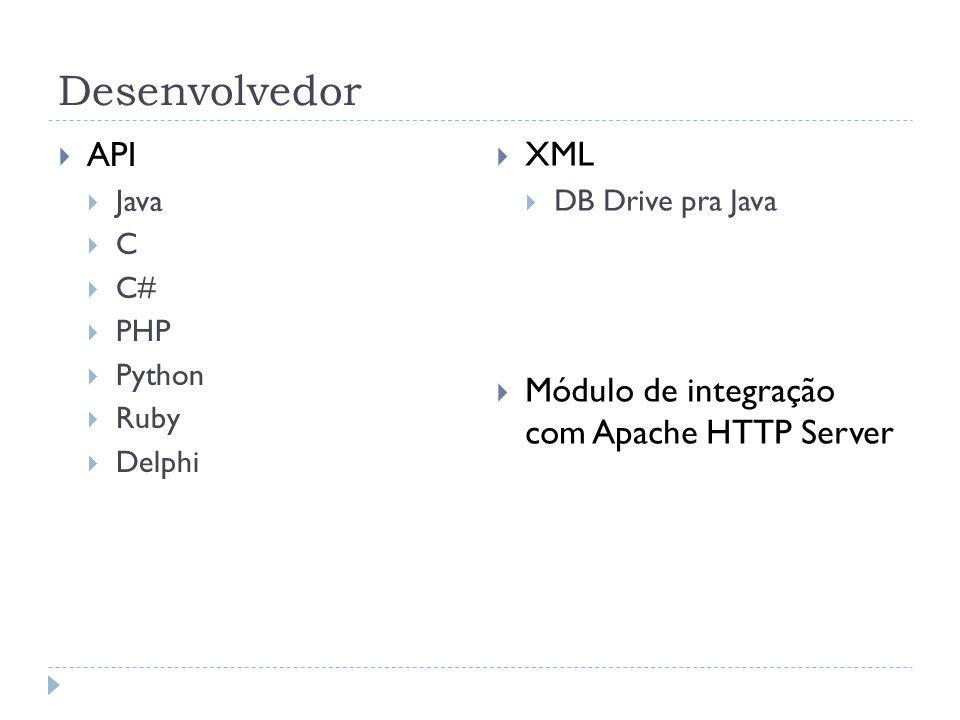 Desenvolvedor API XML Módulo de integração com Apache HTTP Server Java
