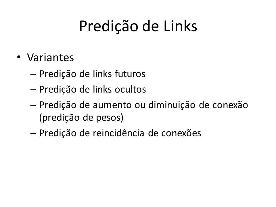 Predição de Links Variantes Predição de links futuros