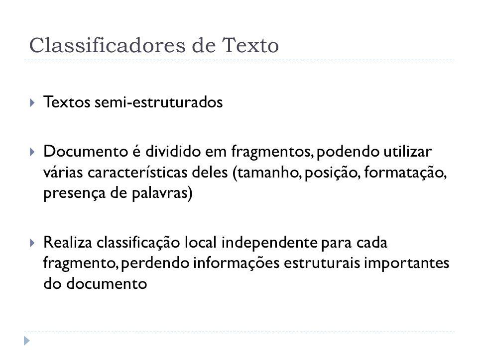 Classificadores de Texto