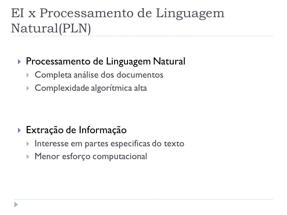 EI x Processamento de Linguagem Natural(PLN)