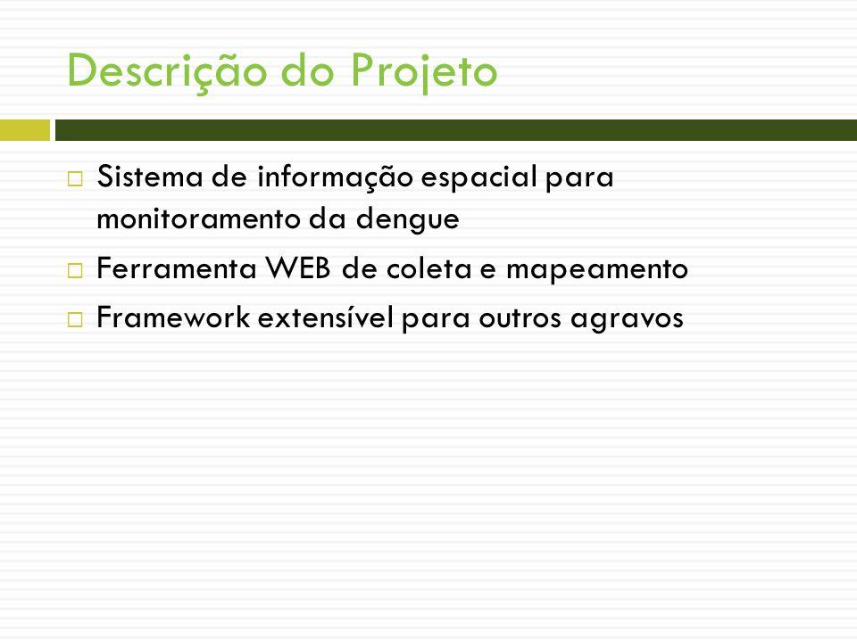 Descrição do Projeto Sistema de informação espacial para monitoramento da dengue. Ferramenta WEB de coleta e mapeamento.