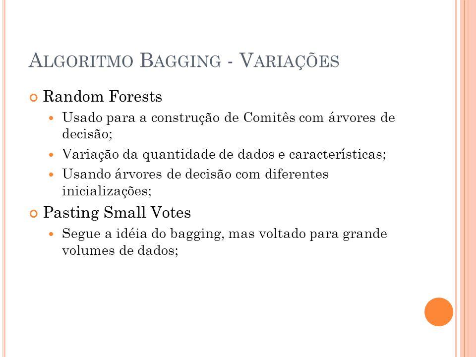Algoritmo Bagging - Variações