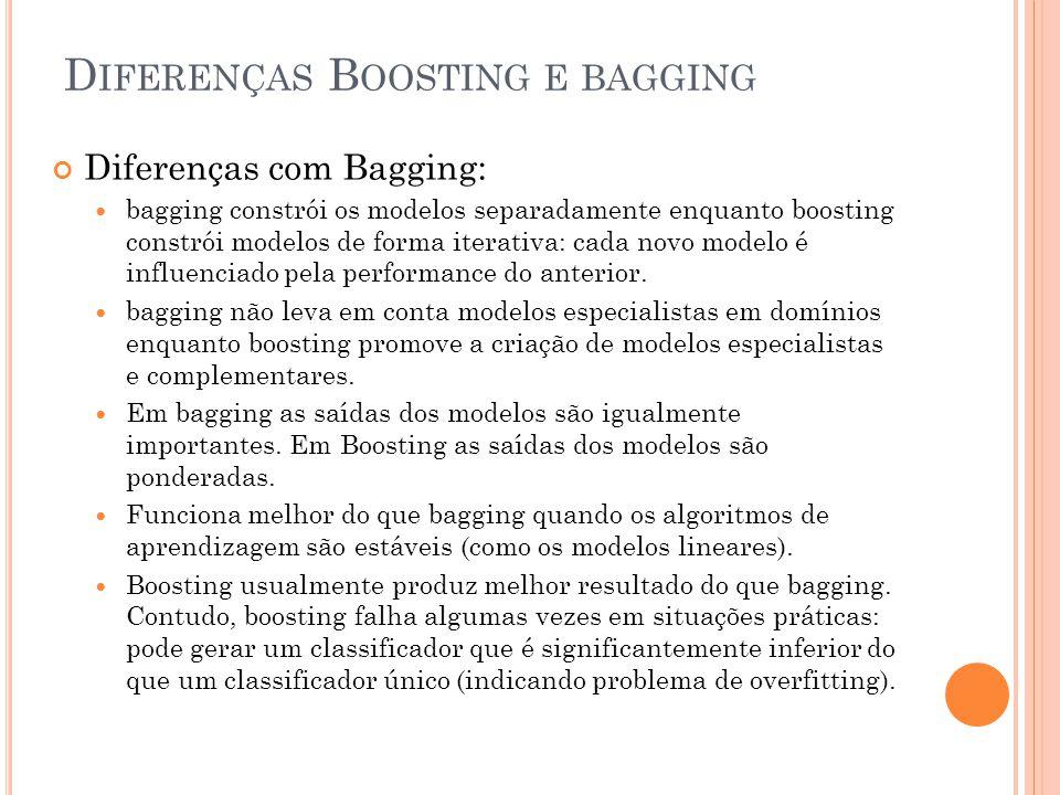 Diferenças Boosting e bagging