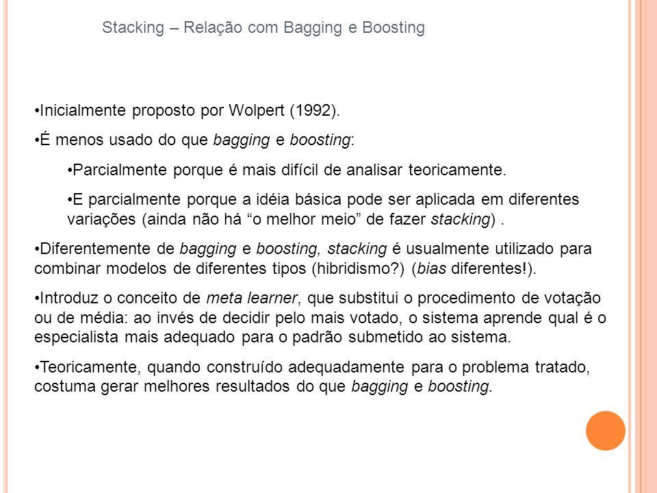 Stacking – Relação com Bagging e Boosting