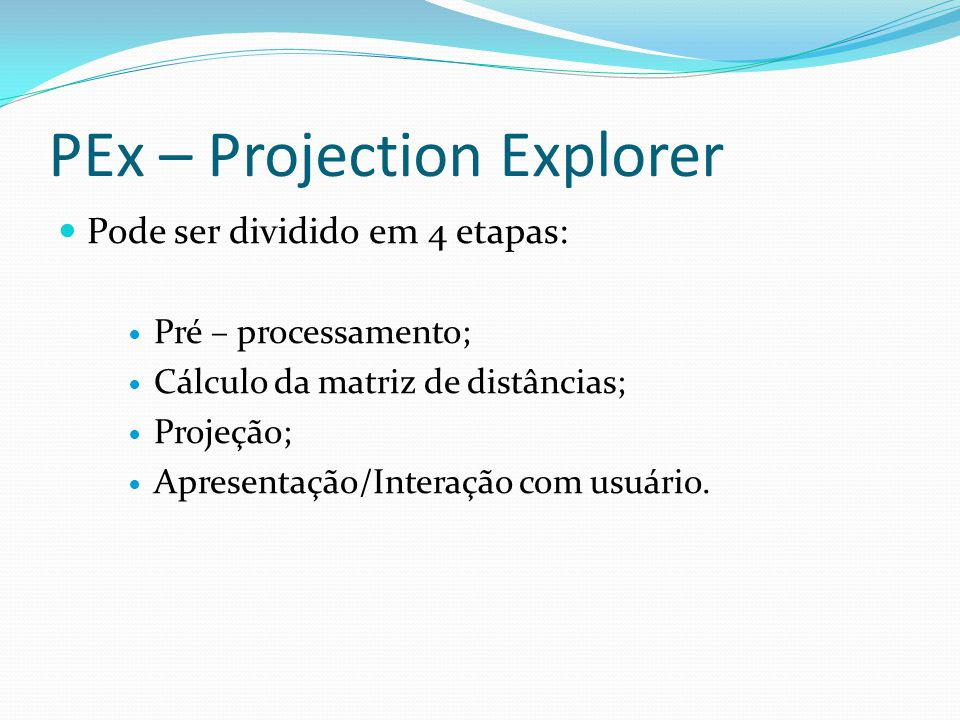 PEx – Projection Explorer