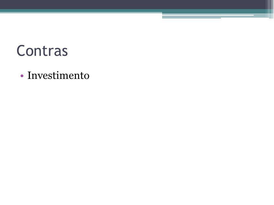 Contras Investimento