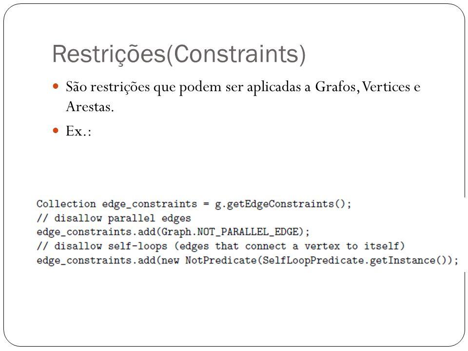 Restrições(Constraints)