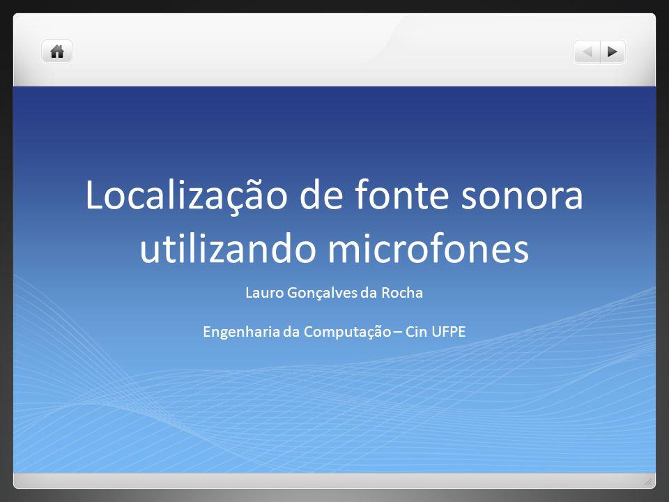 Localização de fonte sonora utilizando microfones