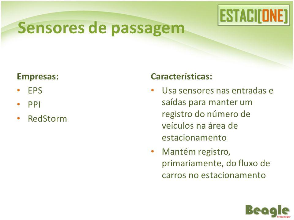 Sensores de passagem Empresas: EPS PPI RedStorm Características: