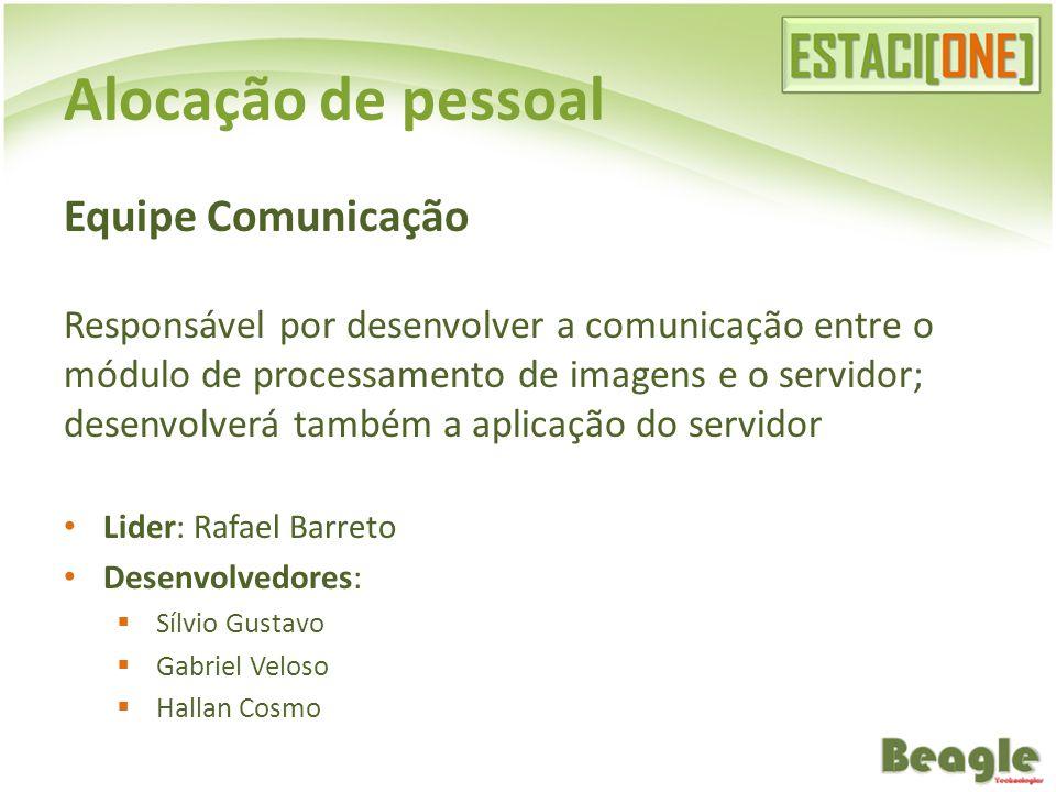 Alocação de pessoal Equipe Comunicação