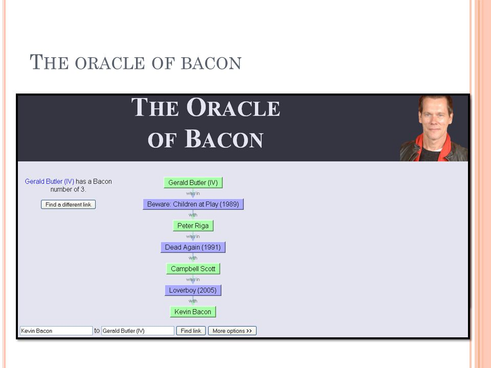 The oracle of bacon