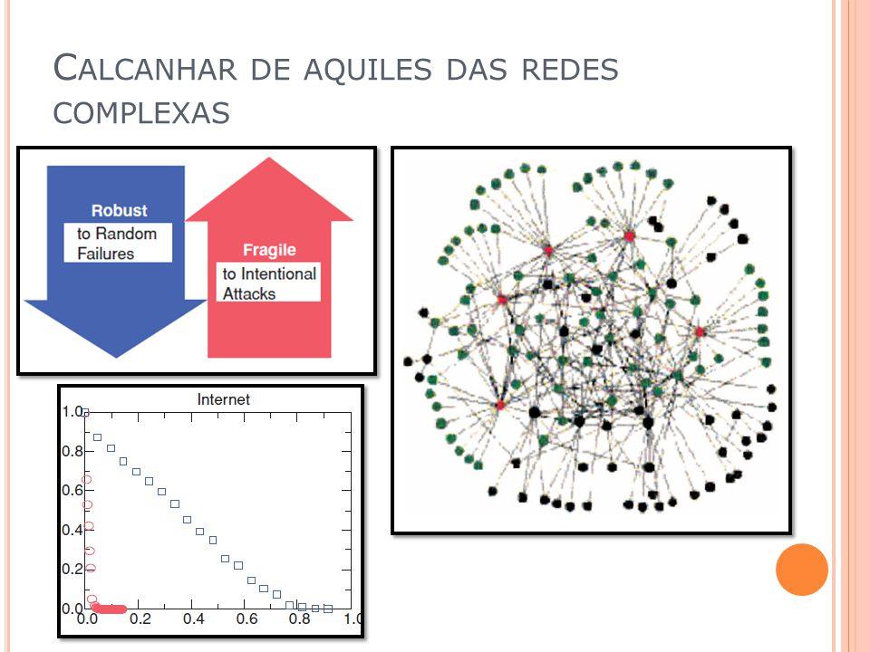 Calcanhar de aquiles das redes complexas