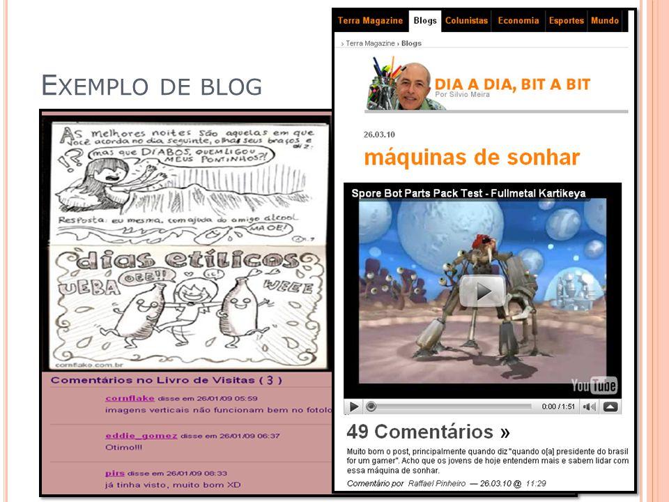 Exemplo de blog