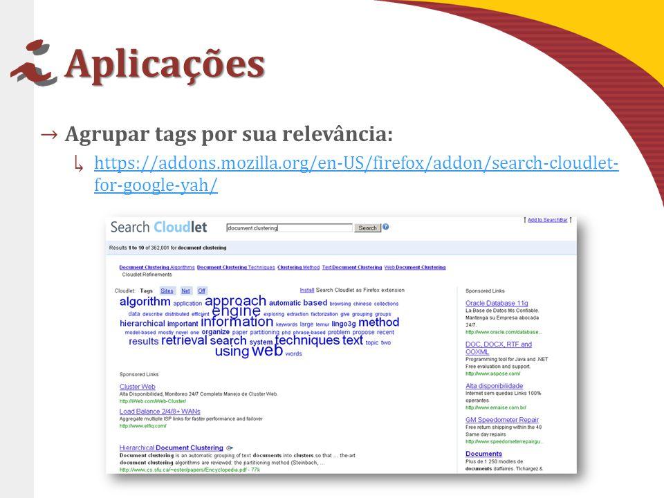 Aplicações Agrupar tags por sua relevância: