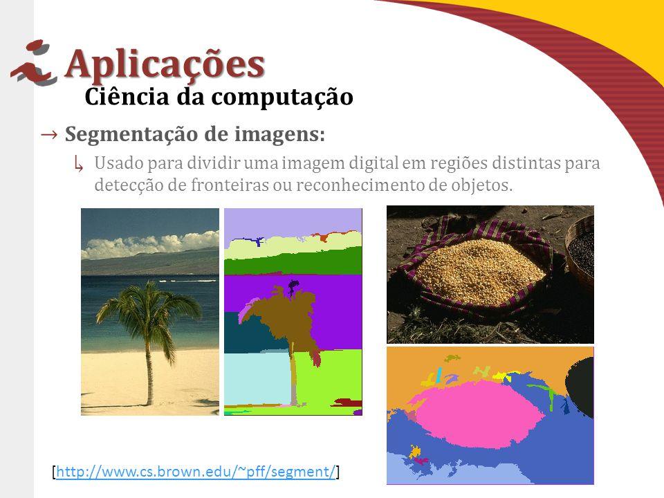 Aplicações Ciência da computação Segmentação de imagens: