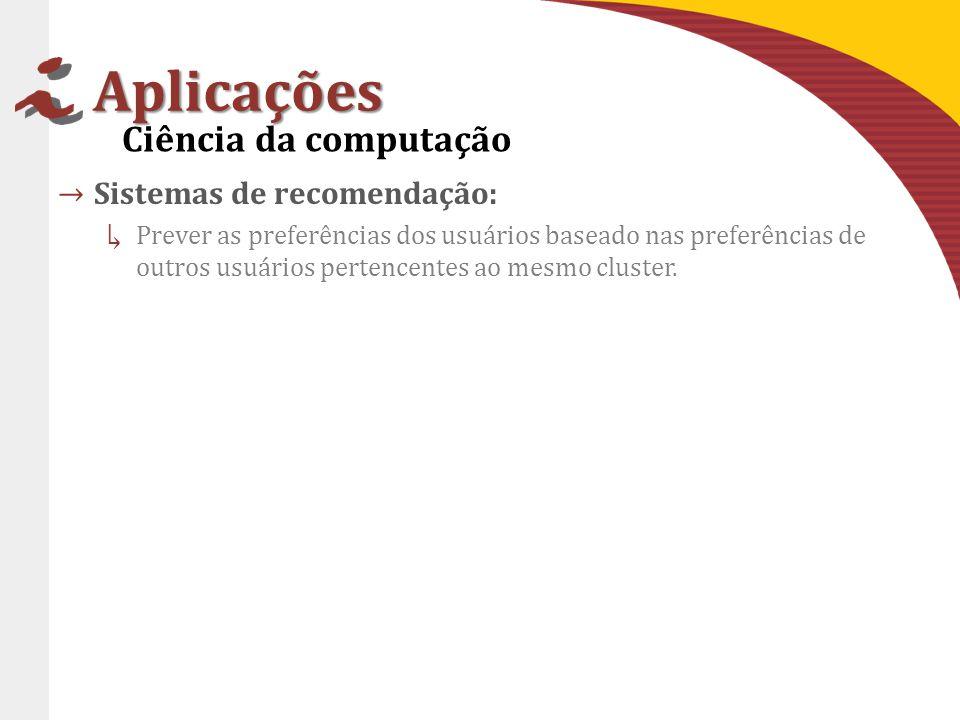 Aplicações Ciência da computação Sistemas de recomendação: