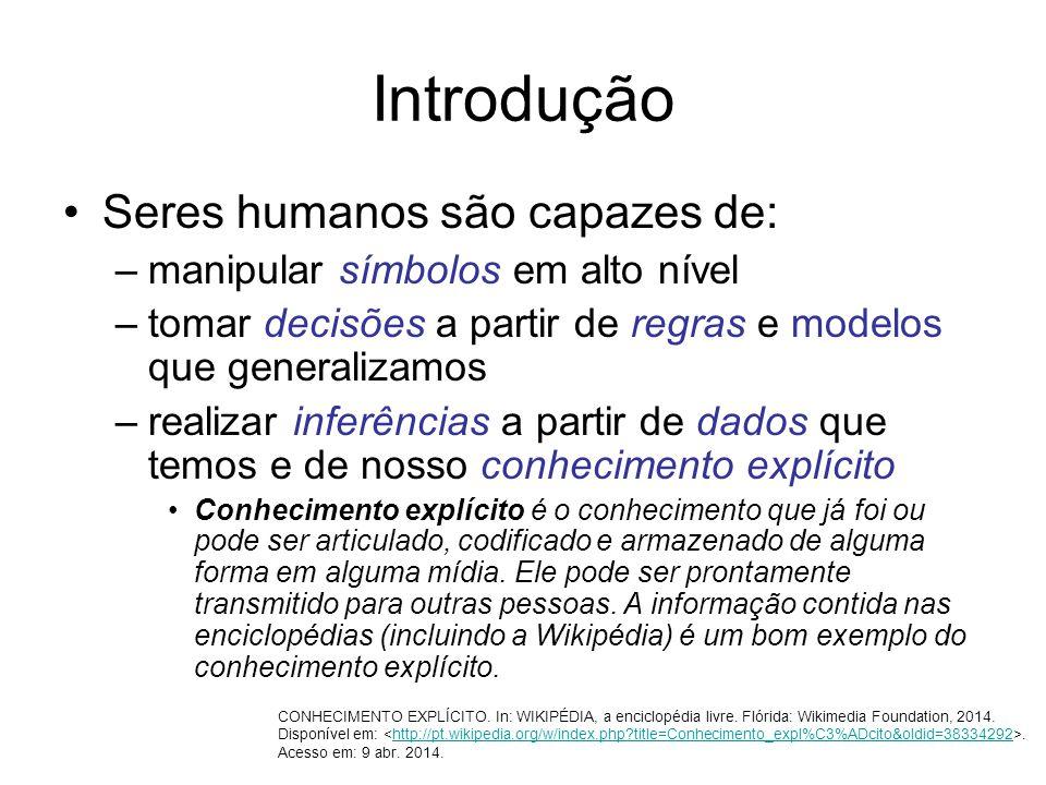 Introdução Seres humanos são capazes de: