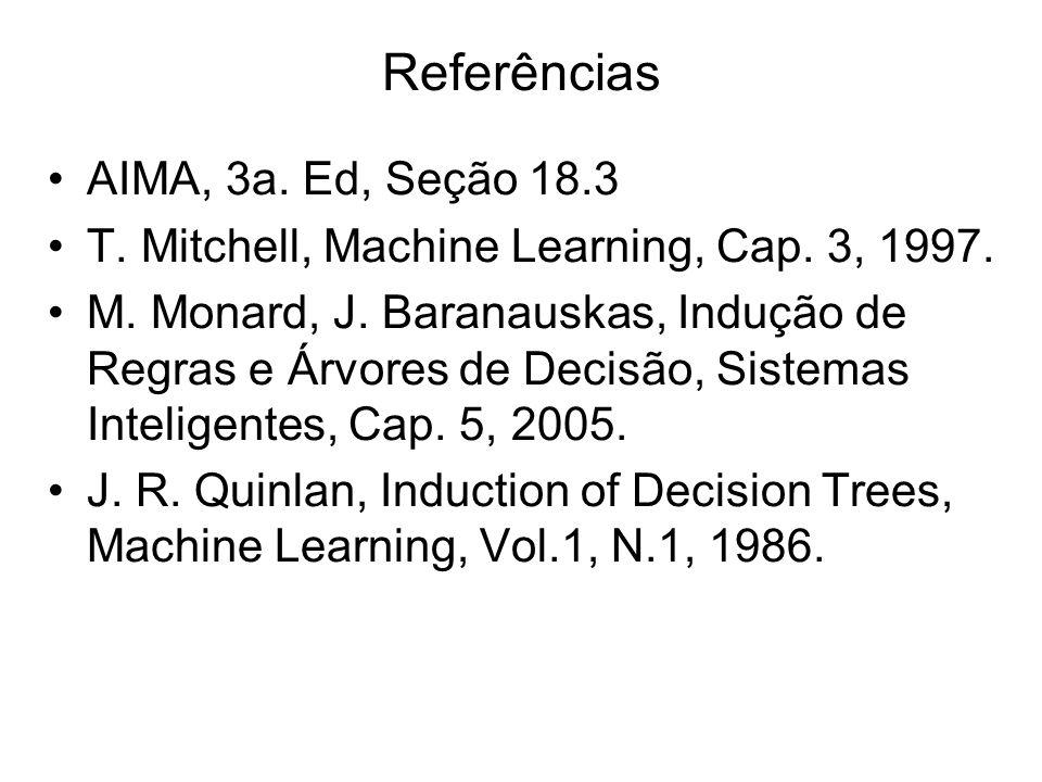 Referências AIMA, 3a. Ed, Seção 18.3
