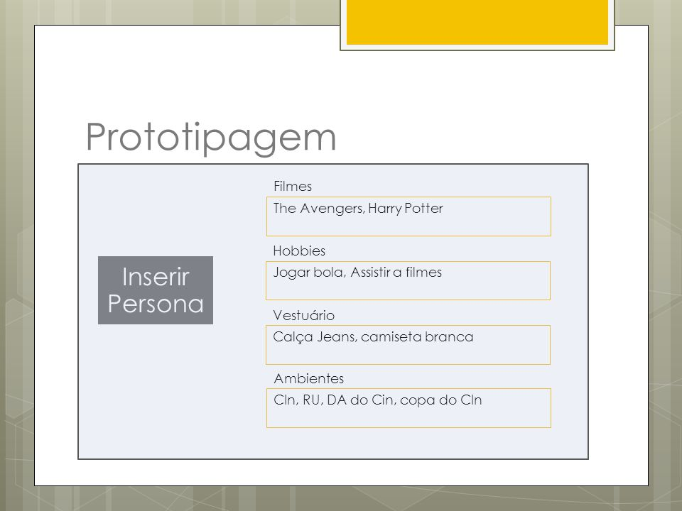 Prototipagem Inserir Persona Filmes The Avengers, Harry Potter Hobbies