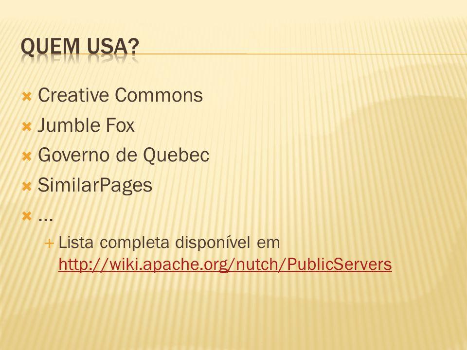 Quem usa Creative Commons Jumble Fox Governo de Quebec SimilarPages