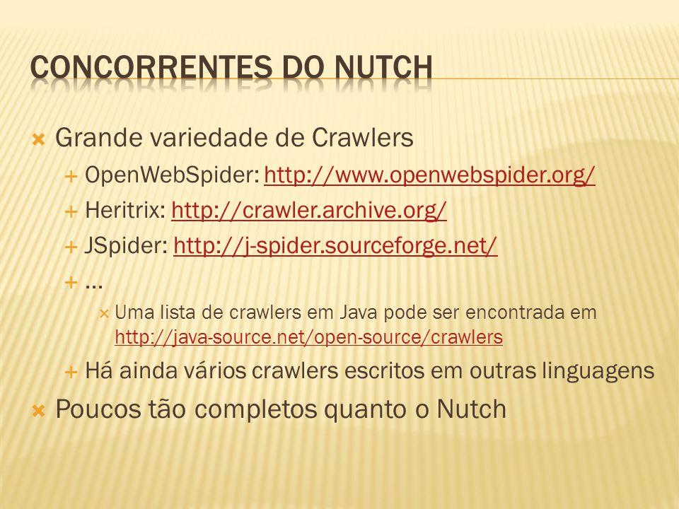 Concorrentes do Nutch Grande variedade de Crawlers