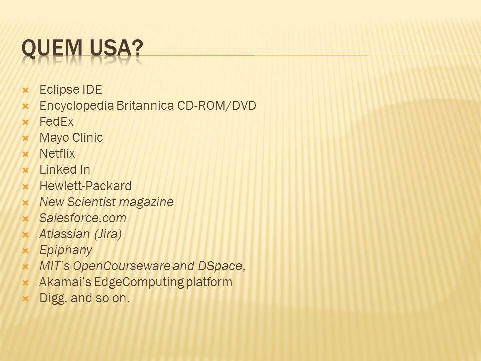 Quem usa Eclipse IDE Encyclopedia Britannica CD-ROM/DVD FedEx