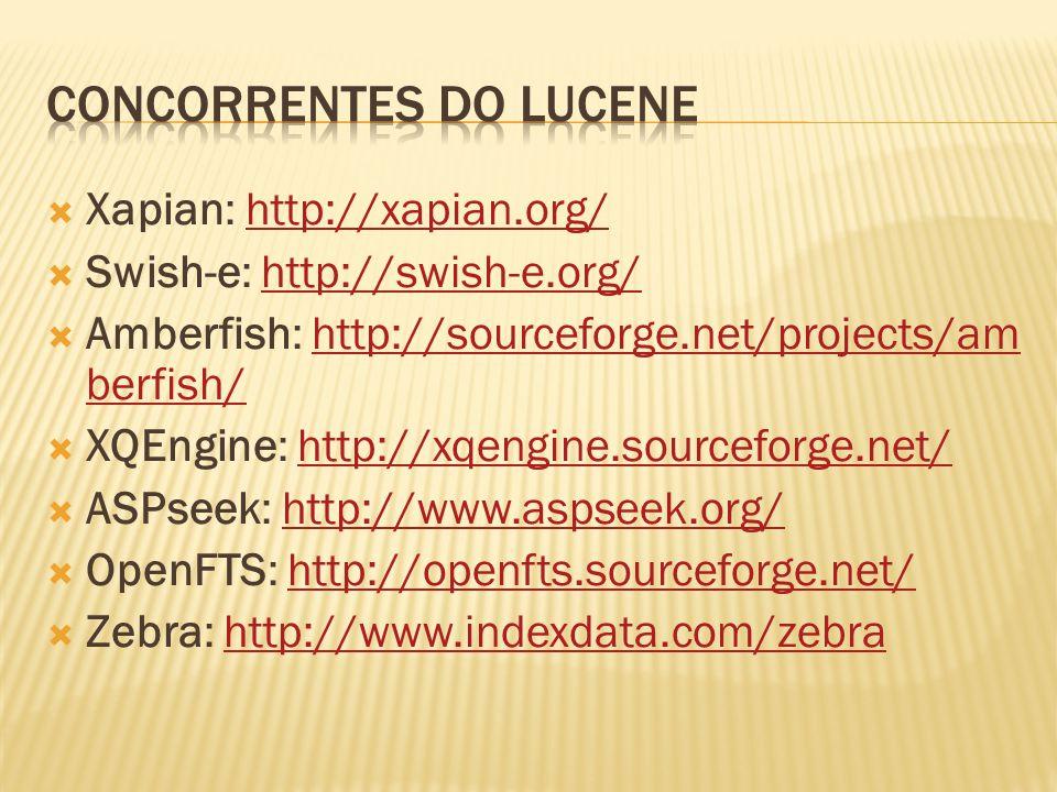 Concorrentes do Lucene