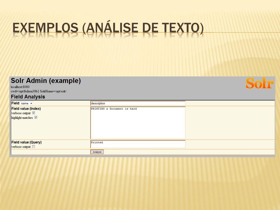 Exemplos (Análise de Texto)