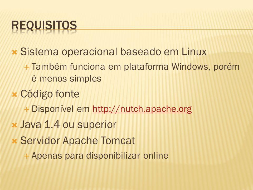 Requisitos Sistema operacional baseado em Linux Código fonte