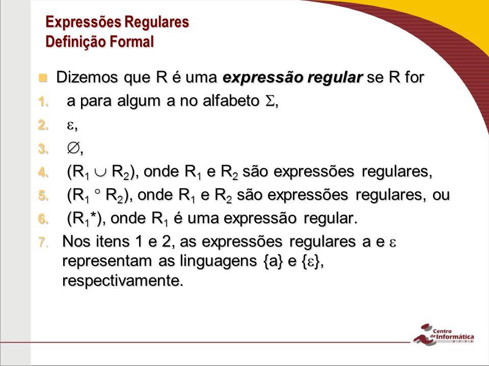 Expressões Regulares Definição Formal
